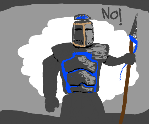 Knight with spear says ok