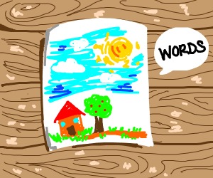 Drawing says words