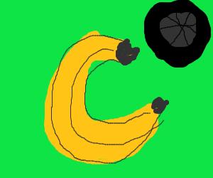 banana and a wheel