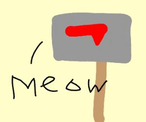 kitty stuffed mailbox