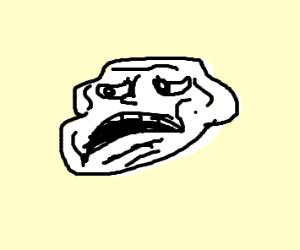 Sad troll face