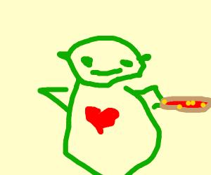 Shrek loves potatoes