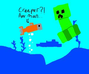 minecraft creeper must find fish