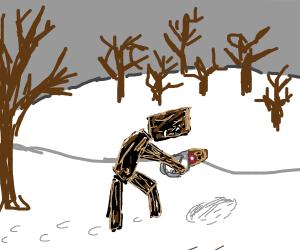 stick man finds buried treasure