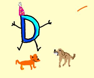 boy celebrates bday with dogs(ellie&darcie)