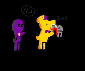 The Purple Guy killing a child (FNAF