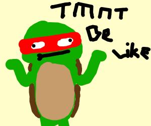 teenage mutant ninja turtle is like :I