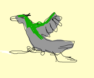 gray and green duck