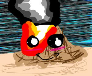 Kawaii volcano erupting