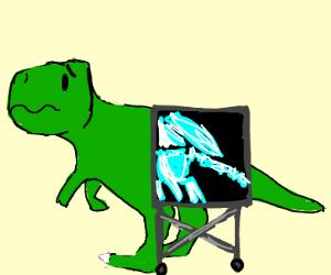 doing an X-Ray of a Dinosaur's butt