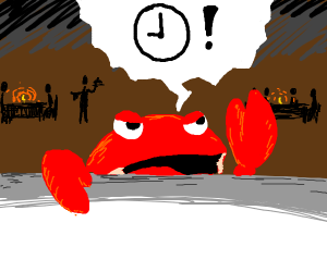 crabby waits for.....
