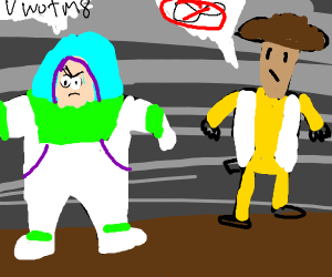 Buzz don't understand the concept of infinity