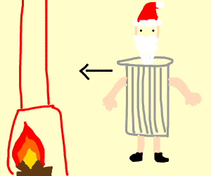 Trash Santa escaping