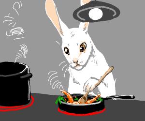 Rabbit cooking