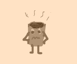 CoffeeCupCeption's come alive.He's miserable.