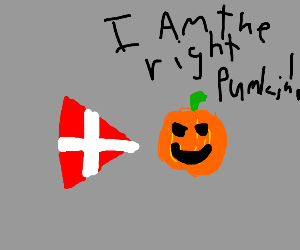 Danish flag arrow pointing right Pumpkin
