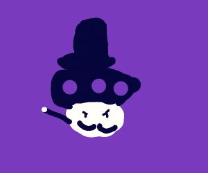 mario posion mushroom as a magician