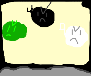 Epic Battle between Green Monster+B+W monster