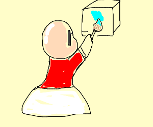 baldina painting a cube