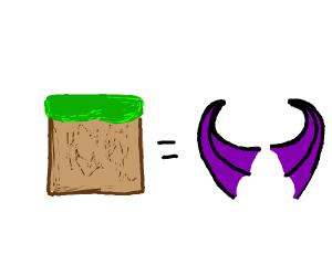 Minecraft Devil Dirt Block