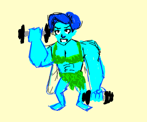 Blue Fairy Weightlifting