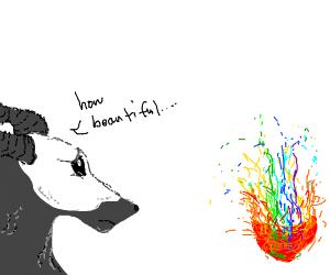 Grey creature jealous of colors