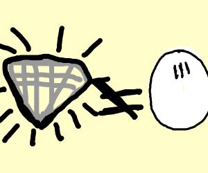 Diamond does not like egg