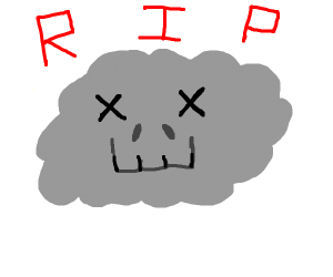 A dead cloud