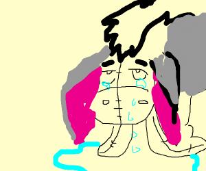 Eeyore cryign