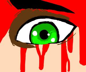 Edgy bleeding anime eye