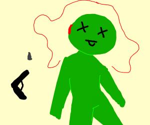 green guy gets deaded