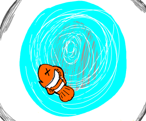 Nemo being flushed RIP