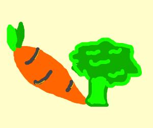 carrot and brocolli