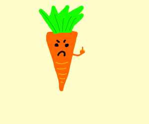 carrot flips you off