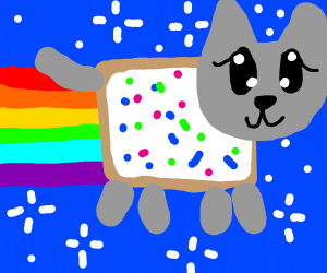Nyan Cat but with white frosting