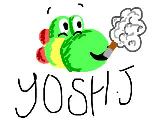 Yoshi smoking whilst drunk. 10/10