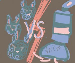 Dust bunnies VS vaccuum