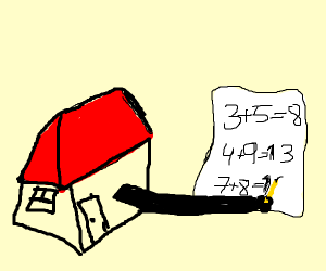house doing math