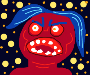 red with rage (in space)