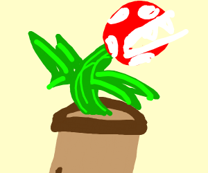 Phirana plant from smash Bros