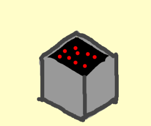 Gray Box with Dots Inside