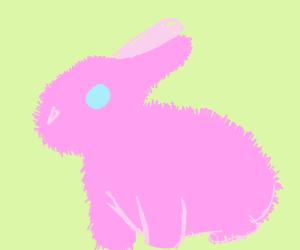 Pink fluffy bunny