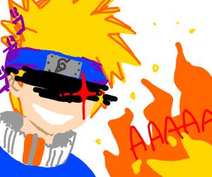 Narturo set a porcupine on fire( I no spel)