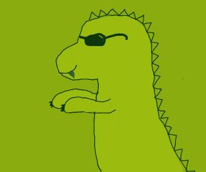 A dinosaur with shades.