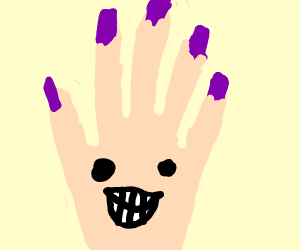 smiling hand