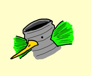 hummingbird on a tin can