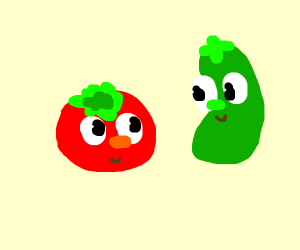 Tomato and Cucumber.