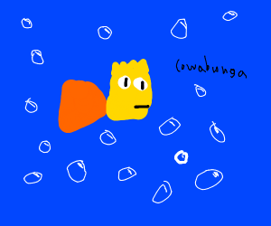 Bart Simpson is now a fish