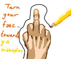middle finger art class