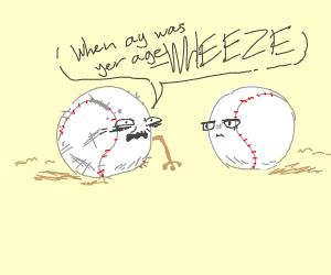 Elderly baseball